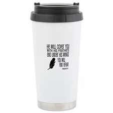 Under His Wings Verse Travel Mug