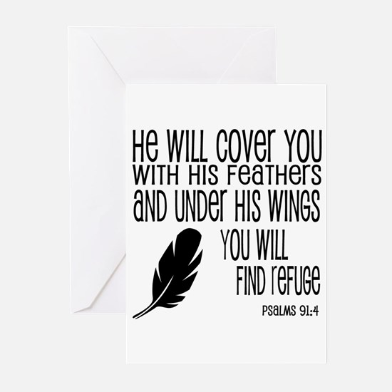 Under His Wings Verse Greeting Cards (Pk of 20)