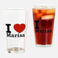I Love Marisa Drinking Glass