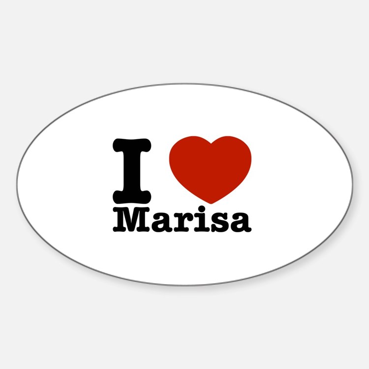 I Love Marisa Sticker (Oval)