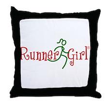 RunnerGirl Throw Pillow -rg