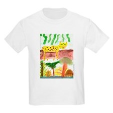Leopard Cat in Tree Jungle Kids T-Shirt