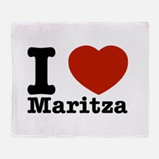 I Love Maritza Throw Blanket