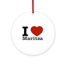 I Love Maritza Ornament (Round)