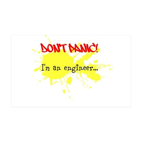 Dont panic! Im an engineer... 35x21 Wall Decal
