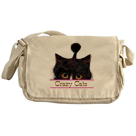 CRAZY CATS Messenger Bag