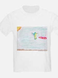 Humming Bird and Feeder Kids T-Shirt