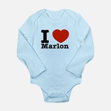I Love Marlon Long Sleeve Infant Bodysuit