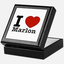 I Love Marlon Keepsake Box