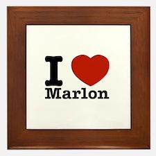 I Love Marlon Framed Tile
