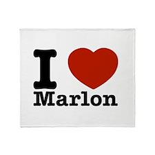 I Love Marlon Throw Blanket