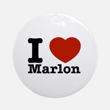 I Love Marlon Ornament (Round)