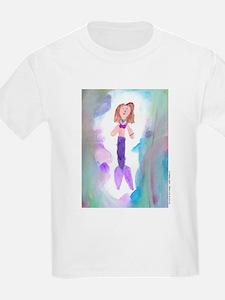 Mermaid at Ocean Beach Kids T-Shirt