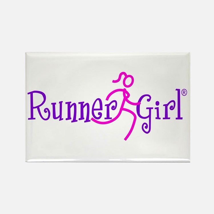 RunnerGirl Rectangle Magnet