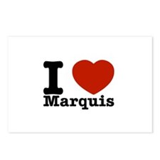 I Love Marquis Postcards (Package of 8)