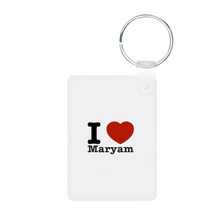 I Love Maryam Aluminum Photo Keychain