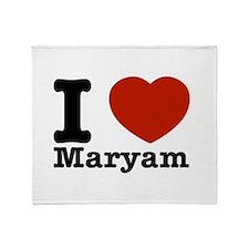 I Love Maryam Throw Blanket