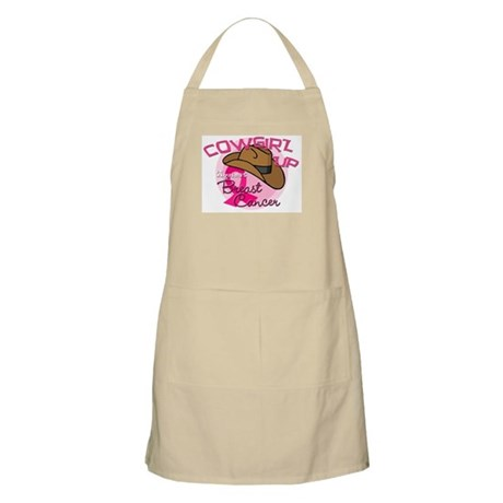 Cowgirl Up Against Breast Cancer Apron