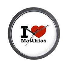I Love Matthias Wall Clock