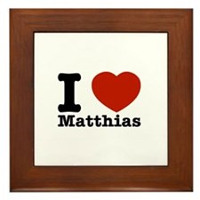 I Love Matthias Framed Tile