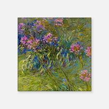 "Monet - Agapanthus Square Sticker 3"" x 3"""