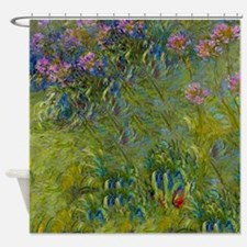 Monet - Agapanthus Shower Curtain