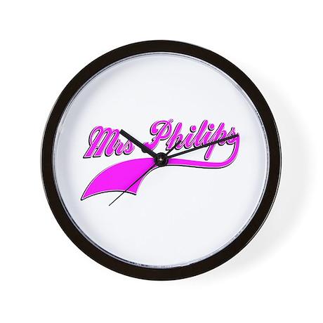 Mrs Philips Wall Clock