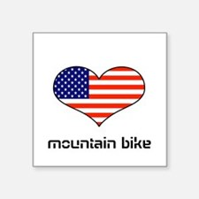 LOVE MOUNTAIN BIKE STARS ANS STRIPES Square Sticke