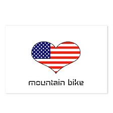 LOVE MOUNTAIN BIKE STARS ANS STRIPES Postcards (Pa