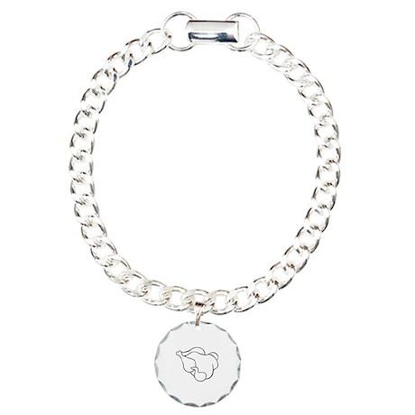 Chicken Charm Bracelet, One Charm