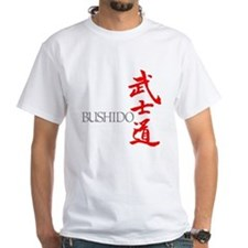 Bushido-Warrior Way Kanji Vertical T-Shirt