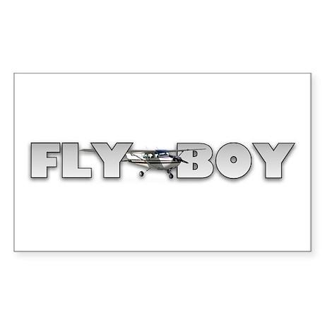 Fly Boy Aviation Rectangle Sticker