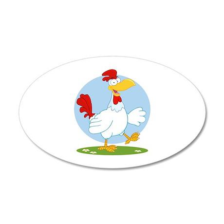 Chicken 38.5 x 24.5 Oval Wall Peel