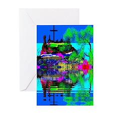 Christmas Christian Cross Greeting Card