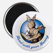 "Read with your Bunny 2.25"" Magnet (10 pack)"