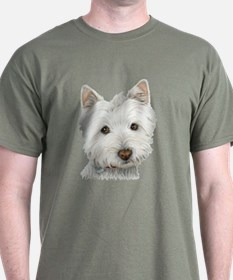 pastel on canvas westie.jpg T-Shirt