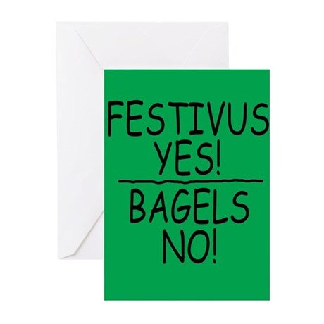 Festivus Yes! Bagels No! Cards (Pk of 10)