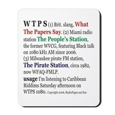 What is WTPS? Mousepad