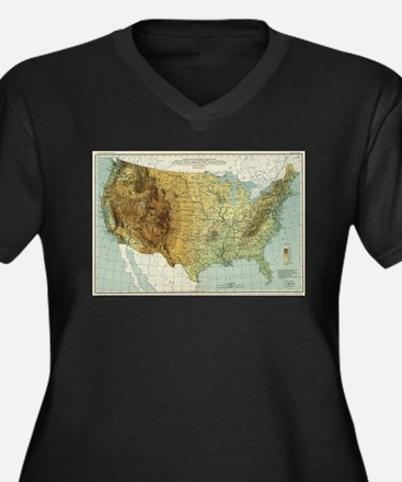 Vintage United States Physical F Plus Size T-Shirt