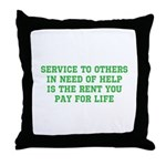 Service Merchandise Throw Pillow