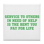 Service Merchandise Tile Coaster
