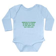 Service Merchandise Long Sleeve Infant Bodysuit
