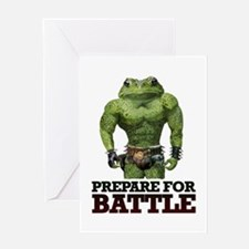 PREPARE FOR BATTLE says TOAD Greeting Card