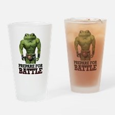 PREPARE FOR BATTLE says TOAD Drinking Glass