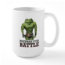 PREPARE FOR BATTLE says TOAD Ceramic Mugs