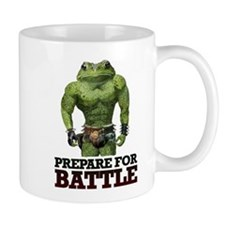 PREPARE FOR BATTLE says TOAD Small Mugs