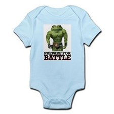 PREPARE FOR BATTLE says TOAD Infant Bodysuit