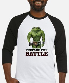 PREPARE FOR BATTLE says TOAD Baseball Jersey