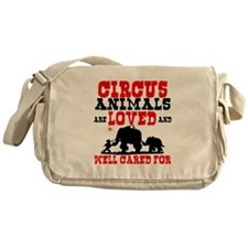 Circus Animals are Loved Messenger Bag