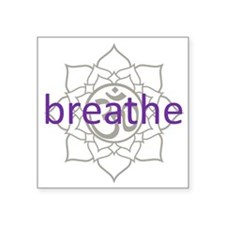 "purplebreathe.png Square Sticker 3"" x 3"""